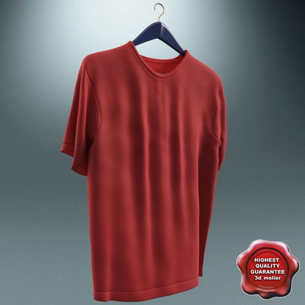 Tshirt and Hanger 3D Models