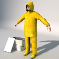 Fisherman 3D models