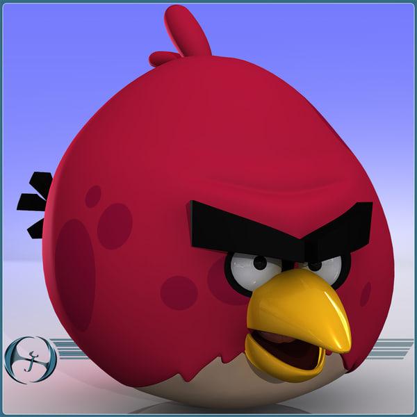 Angry Birds (Elder Red Bird) 3D Models