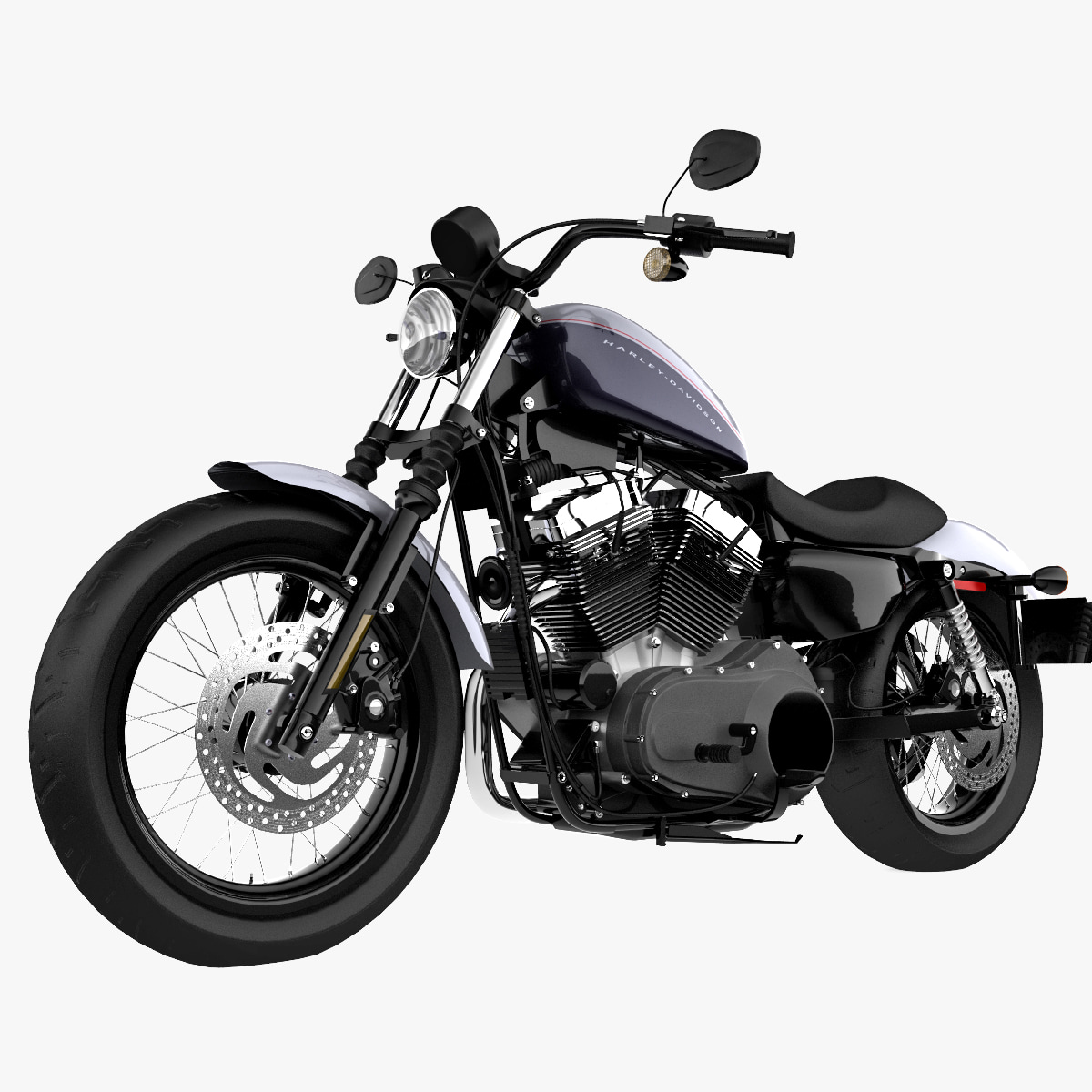Turbo Your Harley: Harley Davidson 3d Model