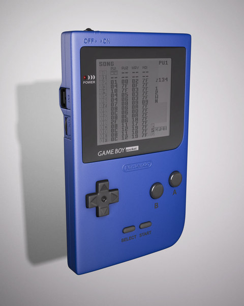 Gameboy Pocket 3D Models