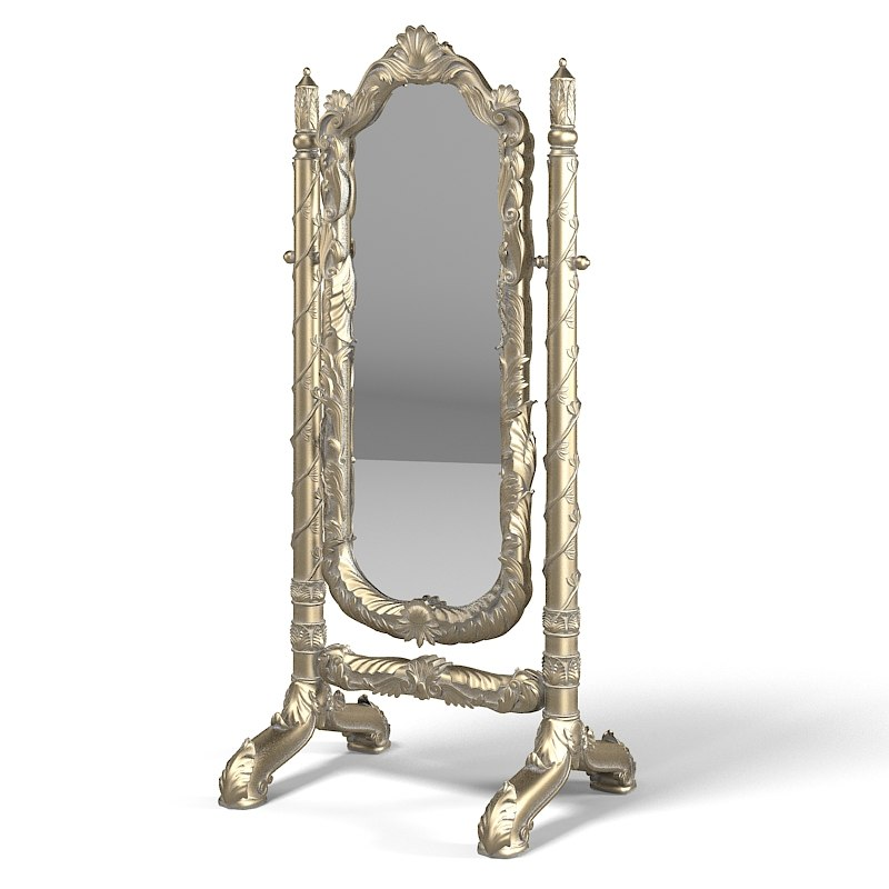 Jumbo Regency Reg-29B Swing Floor Mirror Baroque Carved carving luxurious Classic.jpg