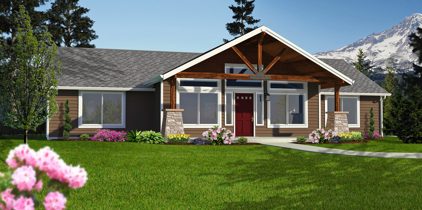 Cabin Rambler Home 3d Model