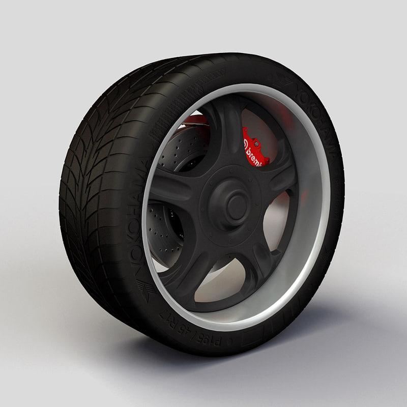 Wheel Proline rim and tire