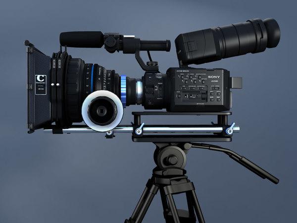NEX FS100 3D Models
