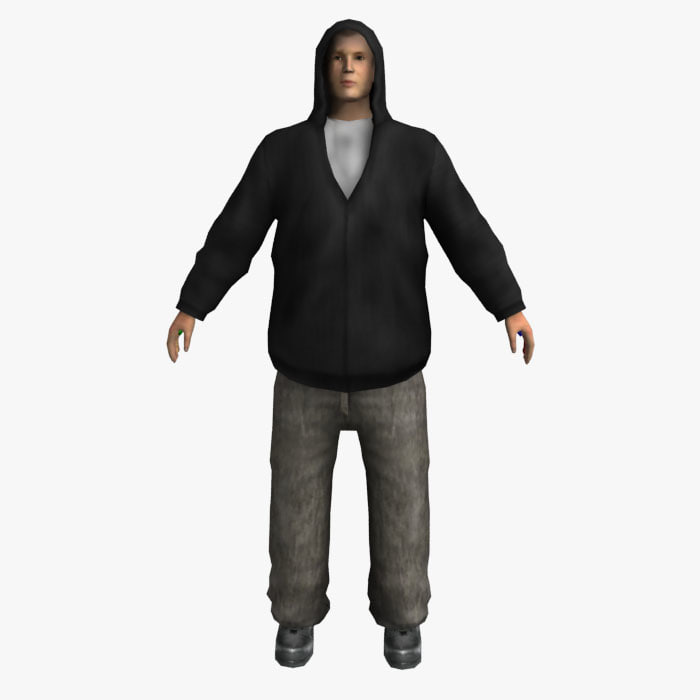 the Hooded Guy (rigged)