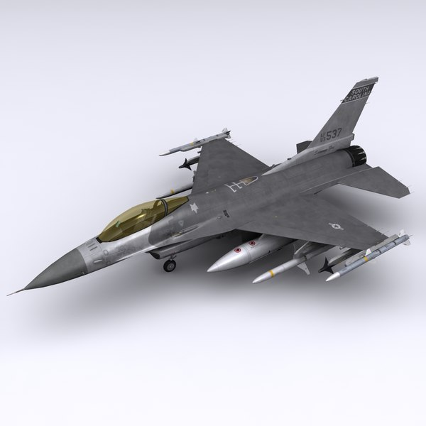 F-16C Fighting Falcon Block 52 3D Models