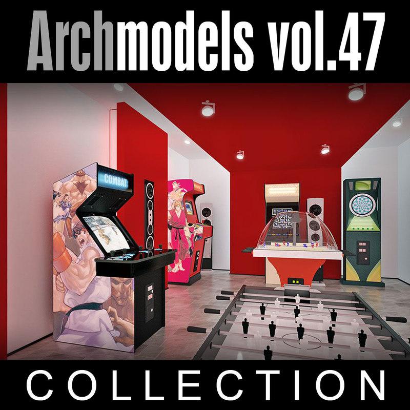 archmodels vol 47 machines 3d model