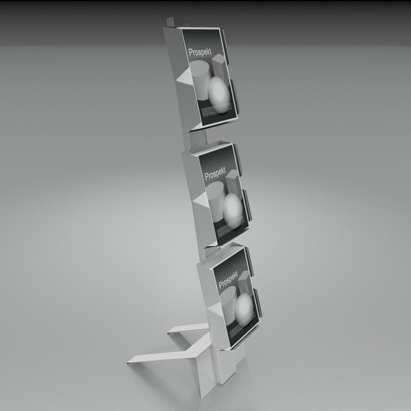 brochure holder 3d model