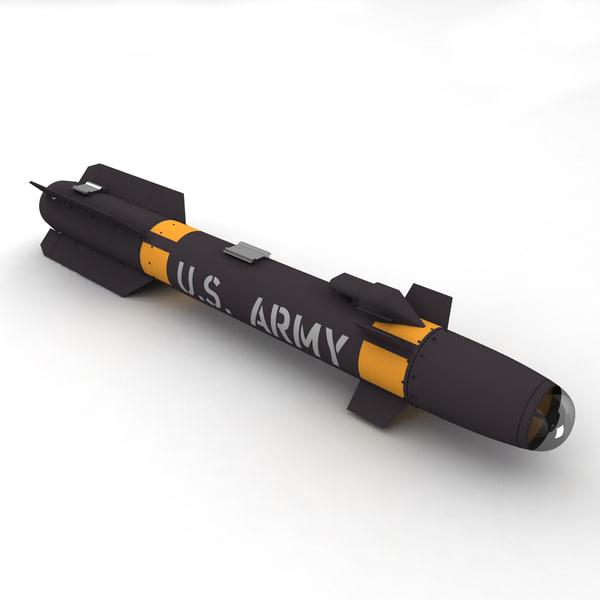AGM-114 Hellfire 3D Models