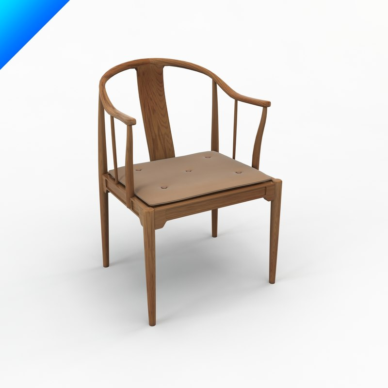 Hans Wegner China Chair Design 3d 3ds