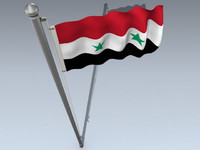 Syria flag 3D models