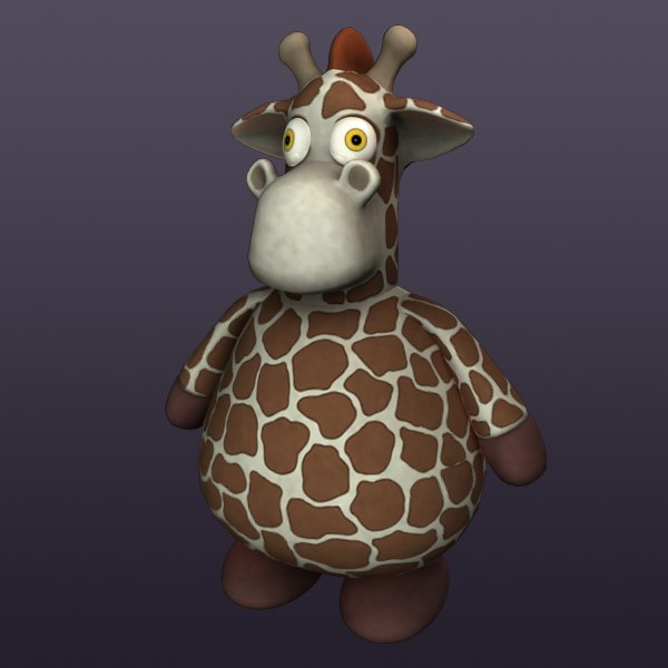 Giraffe plush 3D Models