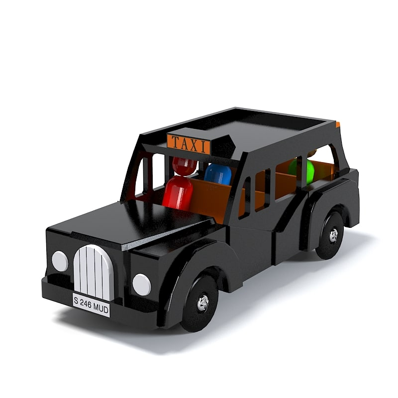 London Taxi  Cab Taxicab Toy Car kid playroom children accessory game.jpg