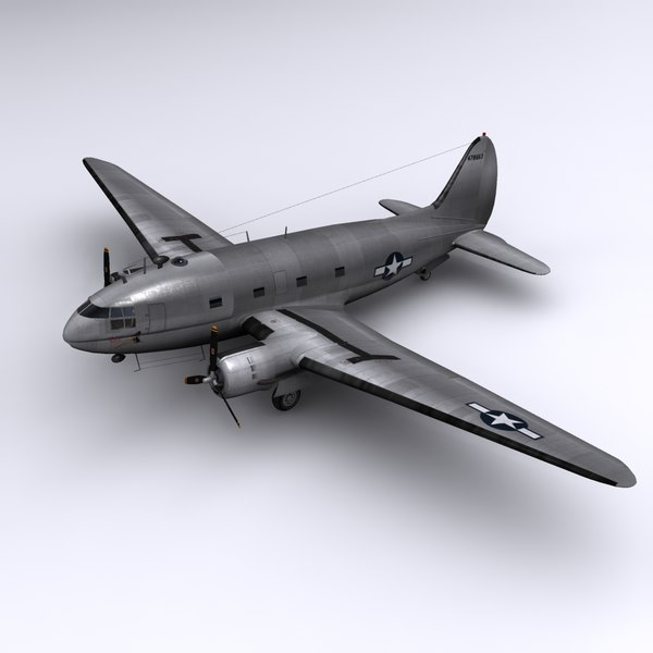 C-46 Commando - China Doll 3D Models
