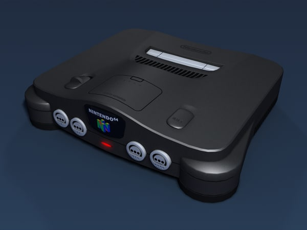 Nintendo 64 Video Game System 3D Models