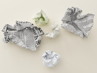 crumpled paper 3D models
