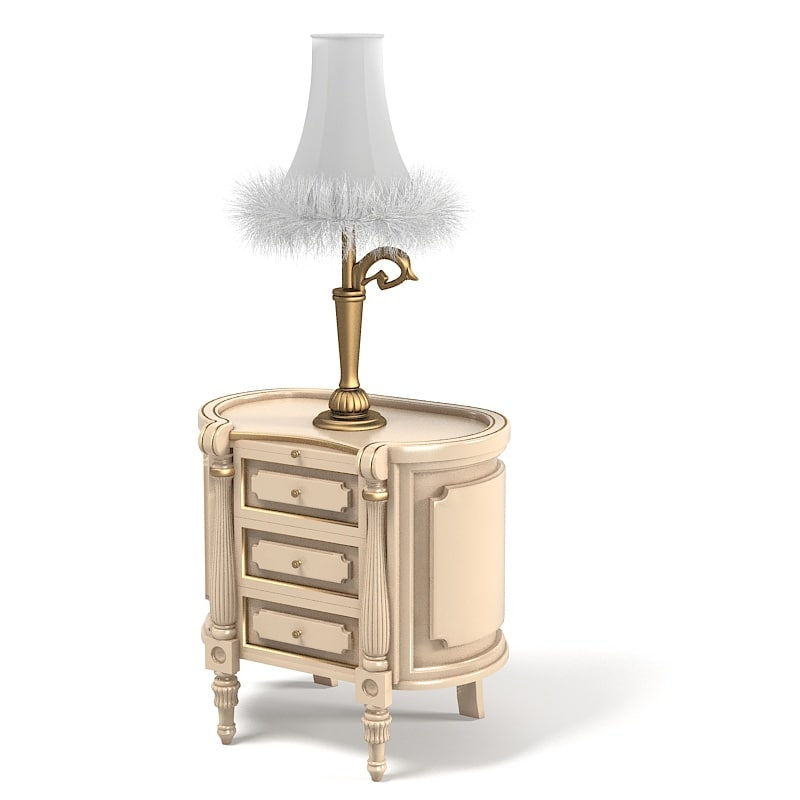 Volpi 2610 Zona Notte Nightstand bedroom chest with Classic Table lamp fur baroque.jpg