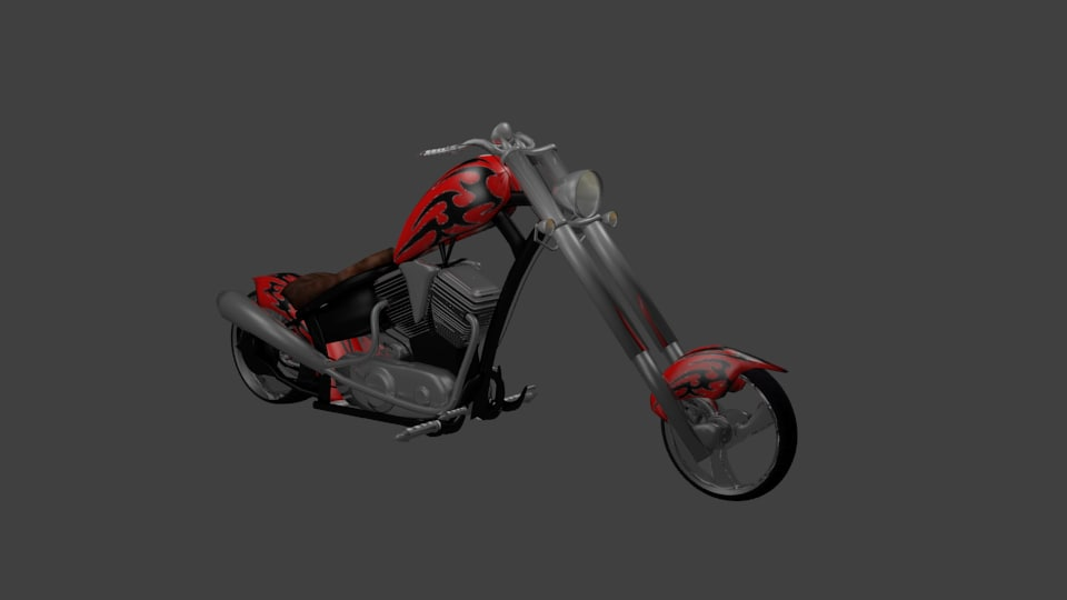 Red Trible motorcycle.png