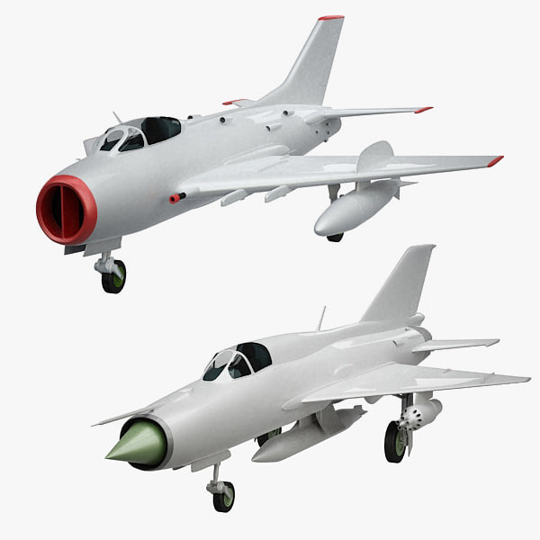 MIG-19 and MIG-21 3D Models