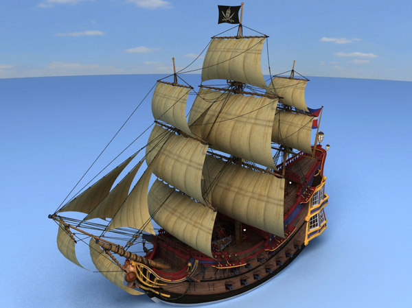 The Pirate ship 3D Models