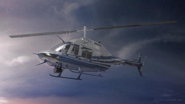 Bell 206 3D Models