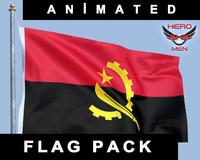 angolan flag 3D models