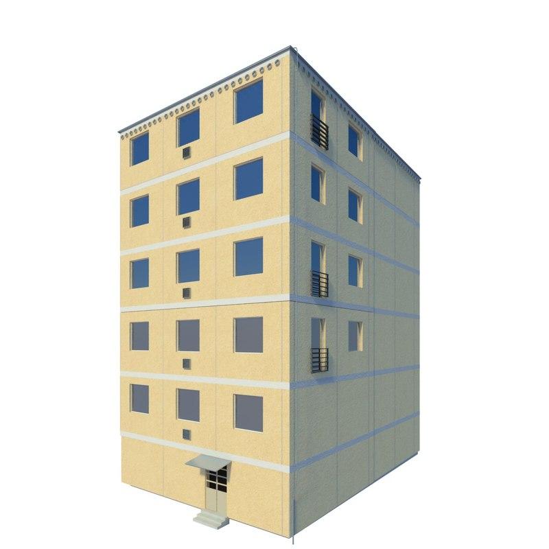 3d model of block flats for How many blocks can build 3 bedroom flat