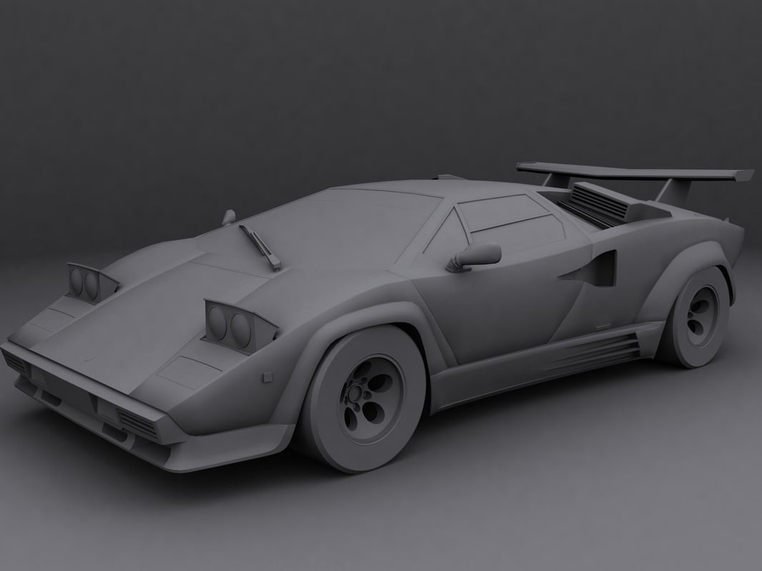 lamborghini countach 3d max. Black Bedroom Furniture Sets. Home Design Ideas