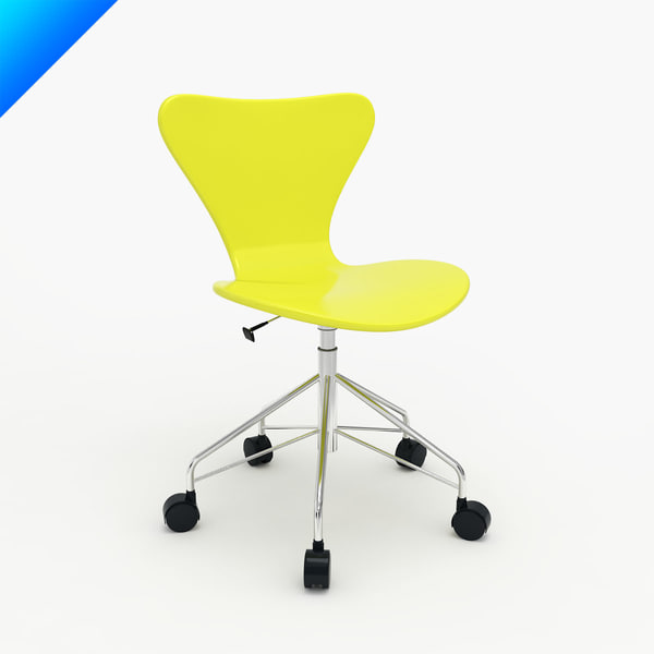 Arne Jacobsen Series 7 Swivel Side Chair 3D Models