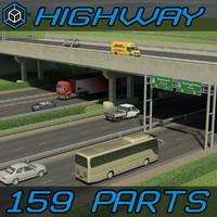 highway interchange 3D models