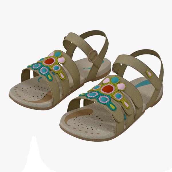 Children Sandal V2 3D Models