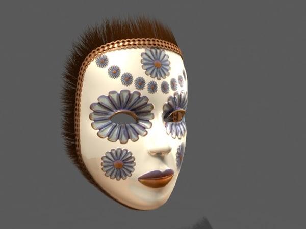 Venetian Carnival Mask 15 3D Models
