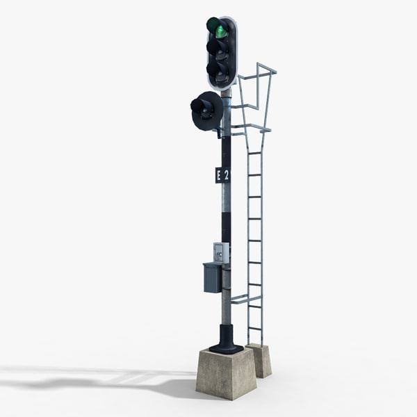 Railway Traffic Light 1 3D Models