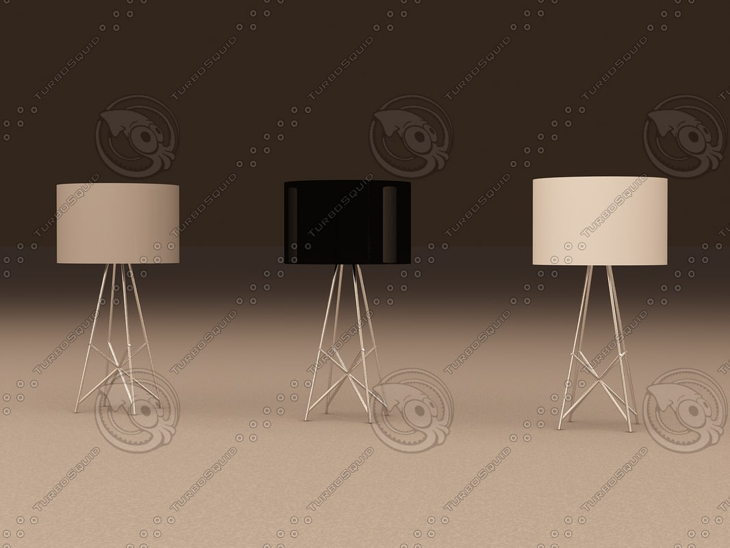 3ds max flos t table lamp for Flos ray t table lamp