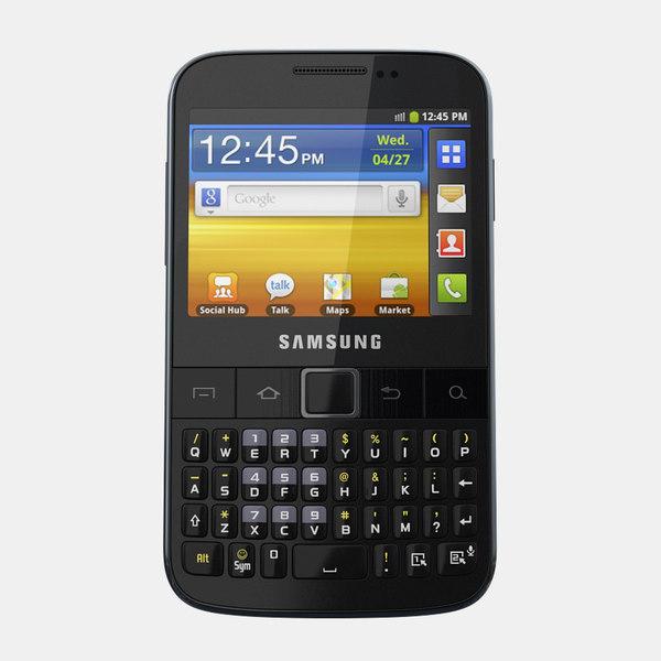 Samsung Galaxy Y Pro B5510 3D Models