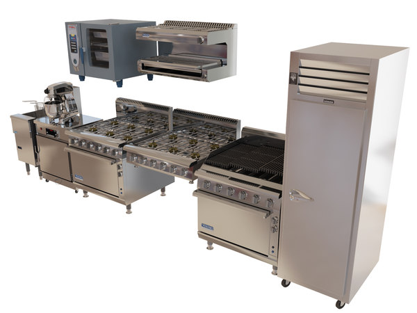 Commercial kitchen technics pack 3D Models