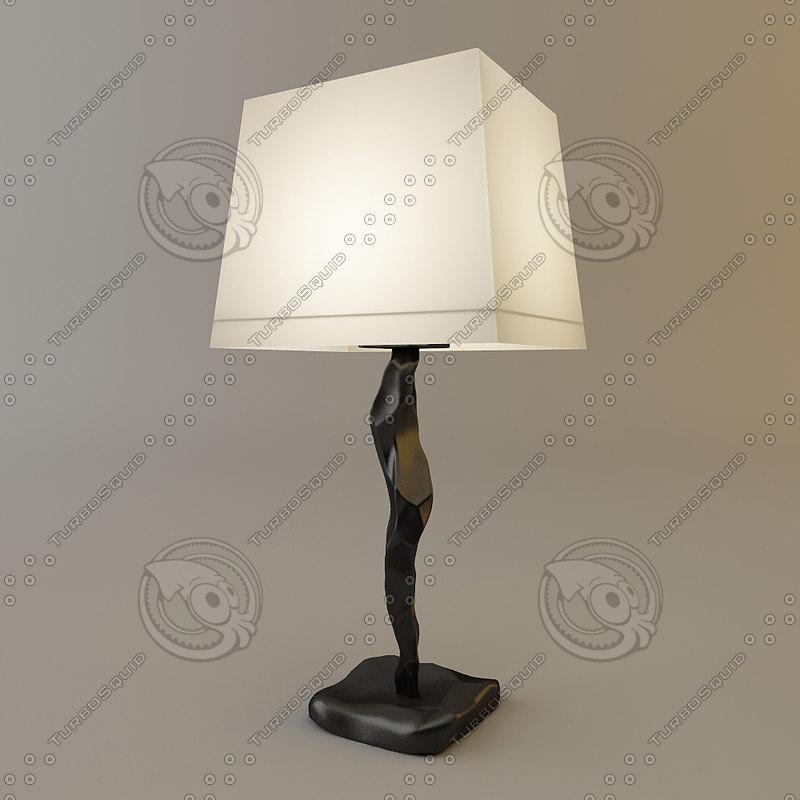 3d model objet insolite constantin lamp - Objet design insolite ...