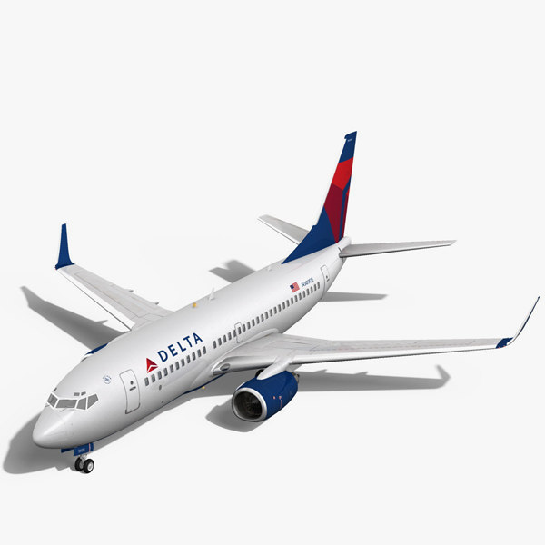 Delta Airlines Boeing 737-700w 3D Models