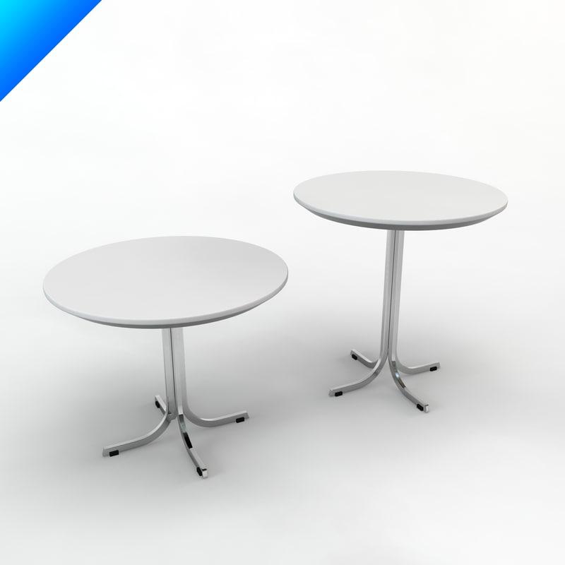 3d model t870 table design pierre paulin for 3d table design