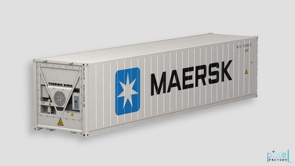 40 feet reefer Container 3D Models