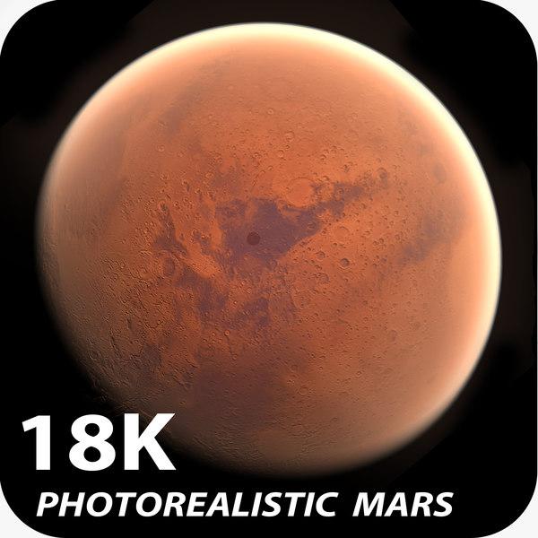 18k Photorealistic Mars 3D Models