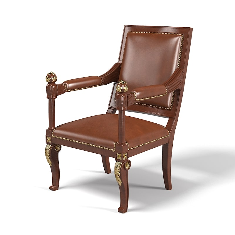 Classic Dining chair stool converstaion office carved leaf nails armchair arm baroque traditional victorian regency.jpg
