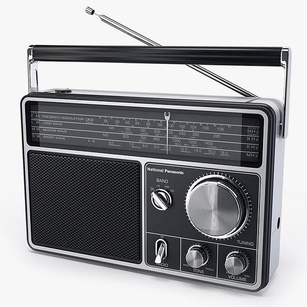 Radio National Panasonic RF1090 3D Models