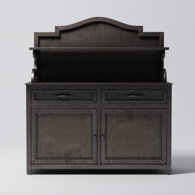Restoration Hardware -19th C. Swedish Metal Sideboard
