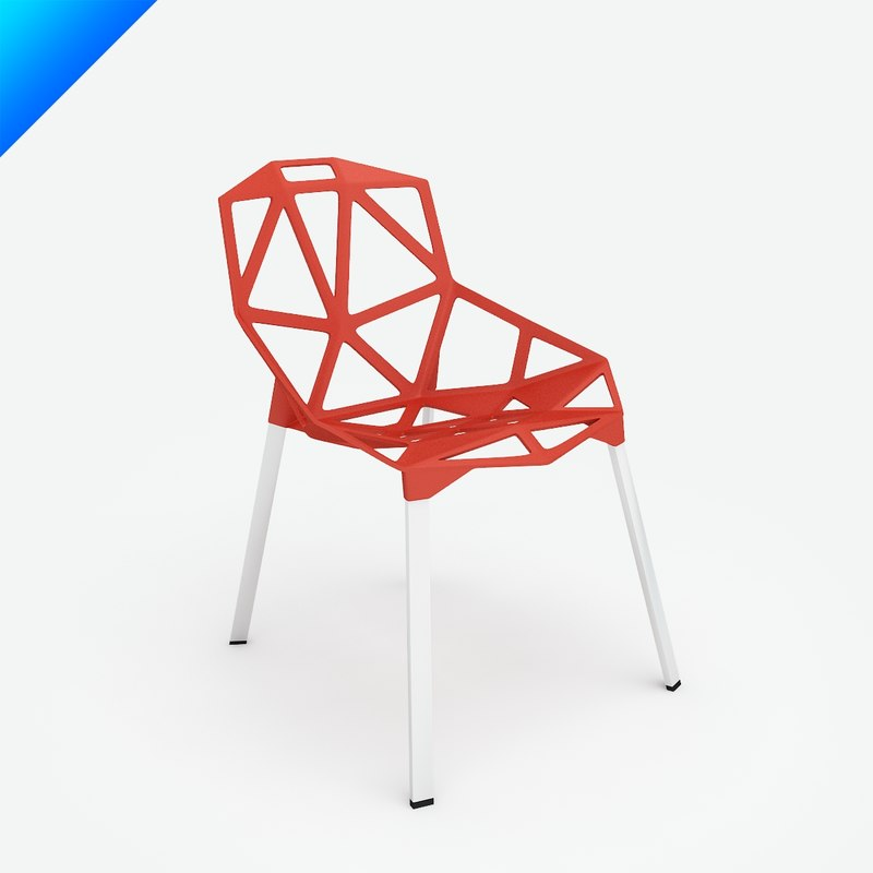 Chair stacking konstantin grcic 3d model for Chair one grcic
