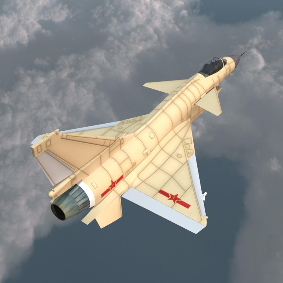 Chengdu J-10 China Fighter Aircraft Rigged