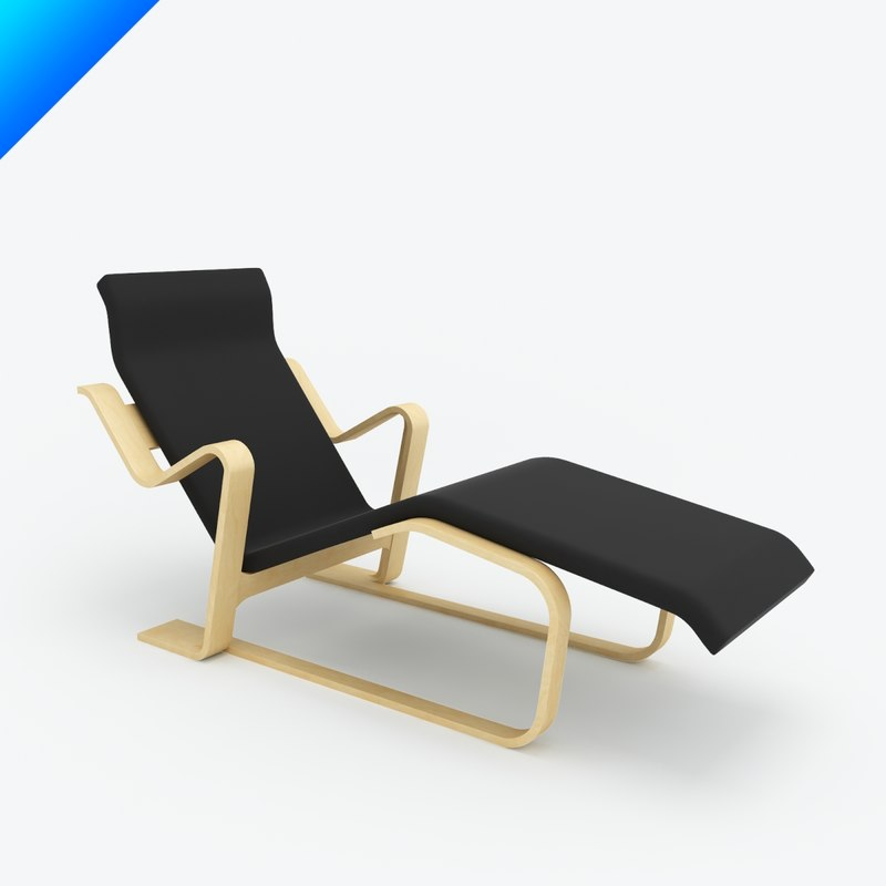 marcel breuer chaise lounge 3d 3ds. Black Bedroom Furniture Sets. Home Design Ideas