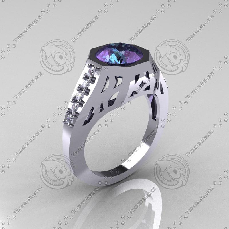MR101F - Modern Edwardian Bridal Ring