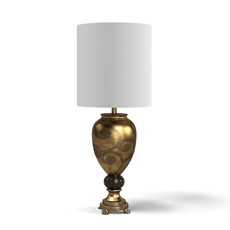 Sigma Elle Due Cl 1726 Modern Table Lamp Classic Art Deco Decorated .jpg